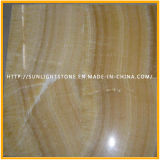 Gelbe Polierhonigonyx-Marmor-Bodenbelag-Wand-Fliesen