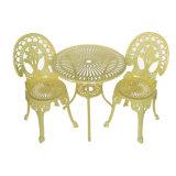 Vector revestido y sillas del jardín del presupuesto del patio del polvo de aluminio determinado cómodo de los muebles