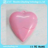 빨간 심혼 모양 플라스틱 USB 섬광 드라이브 (ZYF1200)