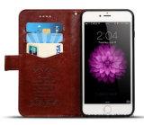 Erstklassiger lederner Mappen-LuxuxHandy-beweglicher Fall für iPhone