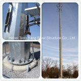 Гальванизированная сталью одиночная башня связи Monopoles пробки