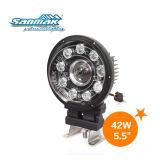 10 luz de conducción sellada viga de la linterna LED del LED Hi/Low (SM6054S-42W)