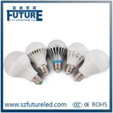 3W, 7W, lampada di plastica della lampadina di 9W E14 B22 E27 LED (2835SMD LED)