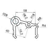 Irregular perfil 6063 Série liga de alumínio Extrusão