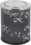 Roestvrij staal Lobby Dustbin met Musical Style (yh-162)