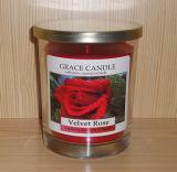 A venda quente Scented a vela enchida vidro do frasco com tampa do metal