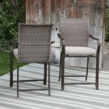 Bom Furnir Sturdy Frame Coast Wicker Bar Bistro Set de jantar