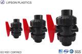 Instalaciones de tuberías del PVC de las vávulas de bola del estruendo