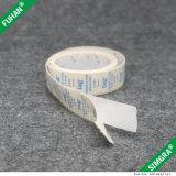 Etiqueta colorida do algodão da cópia da fita da tela de seda