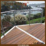 De kant Opgezette Balustrade van het Glas van het Roestvrij staal voor Balkon (sj-H1206)
