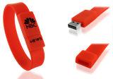Azionamenti su ordinazione all'ingrosso del bastone del USB della fascia di manopola del braccialetto del silicone