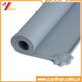 Vajilla del animal doméstico del silicón de la bandeja, pista del silicón, estera de goma, (XY-PB-133)