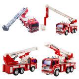 Пластичная пожарная машина защищает и спашет игрушку для детей