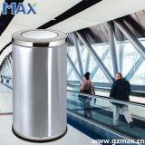 El compartimiento de interior de la eliminación inútil de la tapa del oscilación del acero inoxidable, oficina recicla el compartimiento de basura del metal