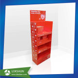 Étalage d'étage de carton de chocolat pour la promotion du jour de Valentine