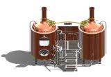 De Apparatuur van het Bierbrouwen van het roestvrij staal Met de Brouwerij van Twee Schepen/het Koken van het Wort van het Koper Apparaten/de Machine 300L/500L/1000L/2000L/3000L van het Bierbrouwen van het Roestvrij staal