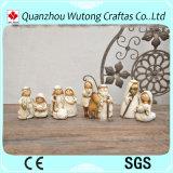 Il natale all'ingrosso della resina perfezionamento la decorazione sveglia della Tabella del Figurine della mangiatoia della resina dei regali di festa