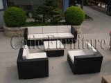 Osier de patio de jardin de cru/meubles sofa de rotin réglés - sofa extérieur (GS241)