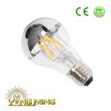 A lâmpada padrão 3.5With5.5With6.5W do diodo emissor de luz A19 cancela/geada/Opal/vidro superior E26/E27/B22 do espelho que escurece o bulbo