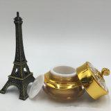 Hoja plástica del metal para la botella cosmética en color del oro