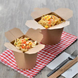 Caixa descartável de primeira qualidade do fast food do papel de Brown