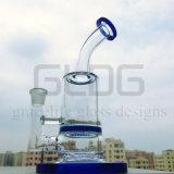 Tubo di acqua di vetro semplice e più poco costoso all'ingrosso con il favo Perc