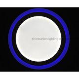Luz de painel redonda do diodo emissor de luz de duas cores para a superfície (3 etapas) (12+4) W