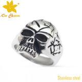 Anillo de dedo del acero inoxidable piedra de la suerte