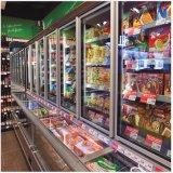 공기 냉각 플러그 접속식 결합된 섬 전시 위 냉각기 또는 바닥 냉장고