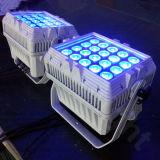 La PARITÀ calda della fase di vendita 20PCS 12W RGBW può indicatore luminoso esterno del LED