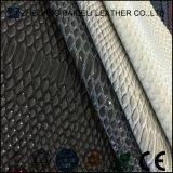 단화와 부대를 위한 돋을새김된 Printting 뱀 곡물 PVC PU 합성 가죽
