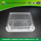 Прямоугольный пластичный контейнер еды, устранимый ясный контейнер