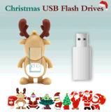 昇進のギフトのためのかわいいギフトUSBのフラッシュ駆動機構のクリスマスPVC USBのフラッシュ駆動機構