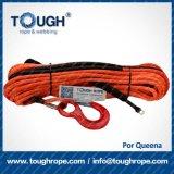 Corda sintética de capacidade elevada do guincho de ATV 4X4