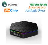 S912 Octa 코어 2GB/16GB 인조 인간 6.0 2.4G+5g WiFi 텔레비젼 상자 플러스 Wechip T95z