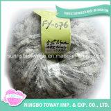 Cheap tricô cinza do bebê Acrílico Poliéster Boucle Fancy fios (FY-076)