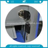 Вагонетка ABS микстуры двойного бортового подвижного стационара ISO Ce медицинская (AG-MT011A1)