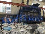 DINの標準F5シリアル鋳造物鋼鉄は非上昇の茎のゲート弁端Z45hのWenzhouの製造業者からのフランジを付けたようになった