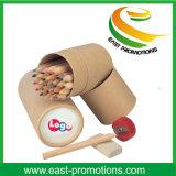 Lápices de madera del color 24PCS en la caja para los niños