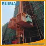 Da construção dobro da gaiola de 2 toneladas grua de levantamento para a venda