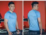 Maglietta di forma fisica del Mens del filato dell'erica dell'Rapido-Essiccamento