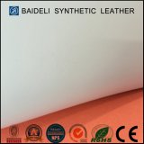 El PVC grueso grabado de la impresión calza el cuero consolidado del Faux para el deslizador, sandalia, zapatos atléticos