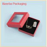 Caixa de presente profissional do papel do cartão com indicador do PVC
