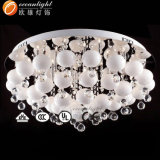Lampe en verre décorative Om77078 de plafond de lustre de lampes en cristal modernes de plafond