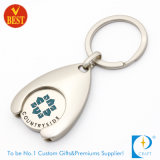 Kundenspezifischer Form-Metalllaufkatze-Münzen-Halter-Schlüsselring