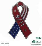 Kundenspezifischer Staatsflagge-MetallreversPin mit Basisrecheneinheits-Kupplung