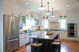 De houten Keukenkast van pvc van het Meubilair Uitstekende kwaliteit Aangepaste