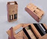 OEM 절묘한 적포도주 선물에 의하여 주름을 잡는 상자 포도주 포장 상자
