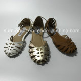 Santals plats de fille de chaussures de type de chaussures neuves de dames
