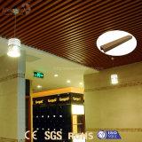 Del grano del PVC diseño de madera resistente al fuego de interior del techo abajo para la oficina
